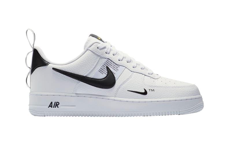 Nike Air Force 1 '07 LV8 Utility Sneaker Black White HYPEBEAST