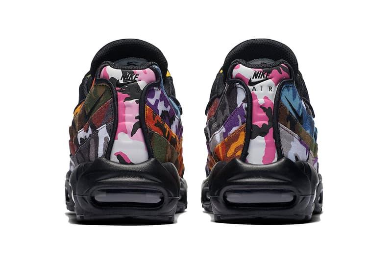 """Nike よりインパクト抜群のカモ柄グラデを纏った AM95 """"ERDL PARTY"""" が登場 レイヤリングを効かせた左右非対称の配色でプレイフルに彩った一足をチェック Nike ナイキ Air Max 95 ERDL PARTY atmos 19,000円 HYPEBEAST ハイプビースト"""