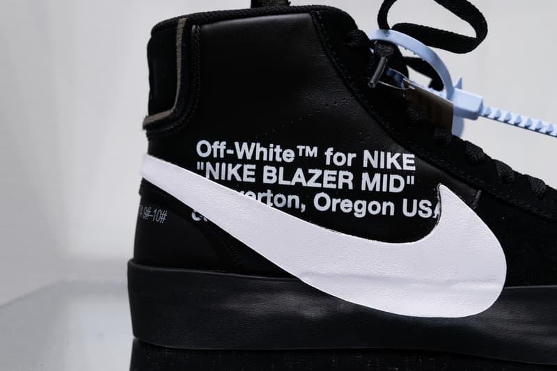 Off-White™ x  Nike による新作コラボ Blazer 2型のディテールにクローズアップ オフホワイト ナイキ ブレザー HYPEBEAST ハイプビースト