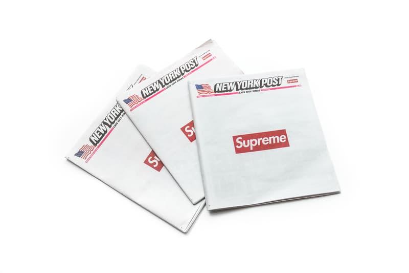 Supreme が2018年秋冬コレクション発足にあたって『New York Post』紙をジャック シュプリーム ニューヨーク ポスト