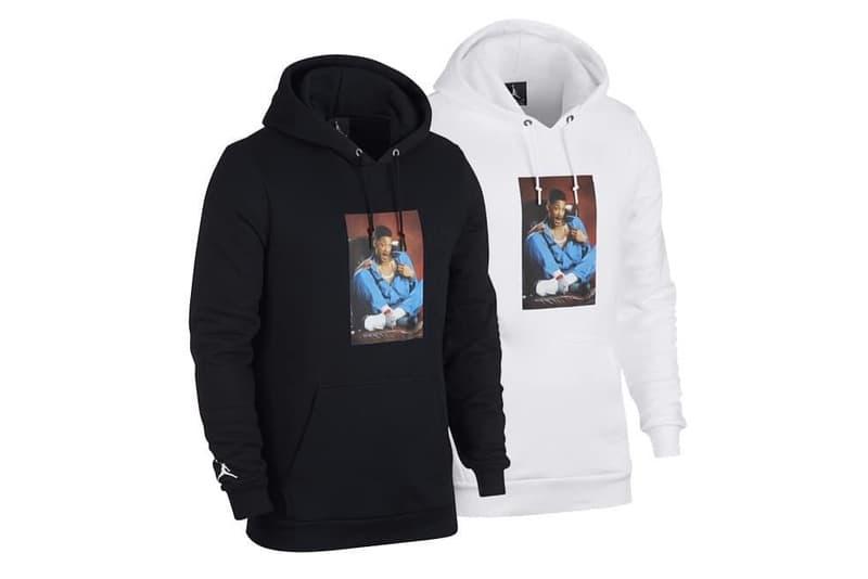 """ウィル・スミスと Nike がシューレースなしの Air Jordan 5 を製作中? Jordan 5 """"Grape""""をベースにしたコラボモデルとともに若きウィル・スミスの写真をプリントしたTシャツ&フーディもリリースされるとか Will Smith(ウィル・スミス)と〈Jordan Brand(ジョーダン ブランド)〉が、1990年代に放送されていたコメディドラマ『ベルエアのフレッシュ・プリンス』にオマージュを捧げるAir Jordan 5のコラボレーションモデルを製作しているようだ。  Will Smithが演じていたFresh PrinceはAir Jordan好きという設定で有名だが、ベースモデルはPrince本人の着用により人気に火がついたJordan 5 """"Grape""""で、当時撮影された以下の写真と同じくシューレースを取り除き、その代わりにフィット感を維持するプラスチックネットをシュータンに配備。また、AJ5とともに、Jordanのトラックスーツを纏う若きWillのフォトプリントを施したTシャツとフーディもリリースされることになるという。  発売日に関する詳細は明らかになっていないので、今は首を長くして〈Nike〉からのアップデートを待つしかなさそう。"""