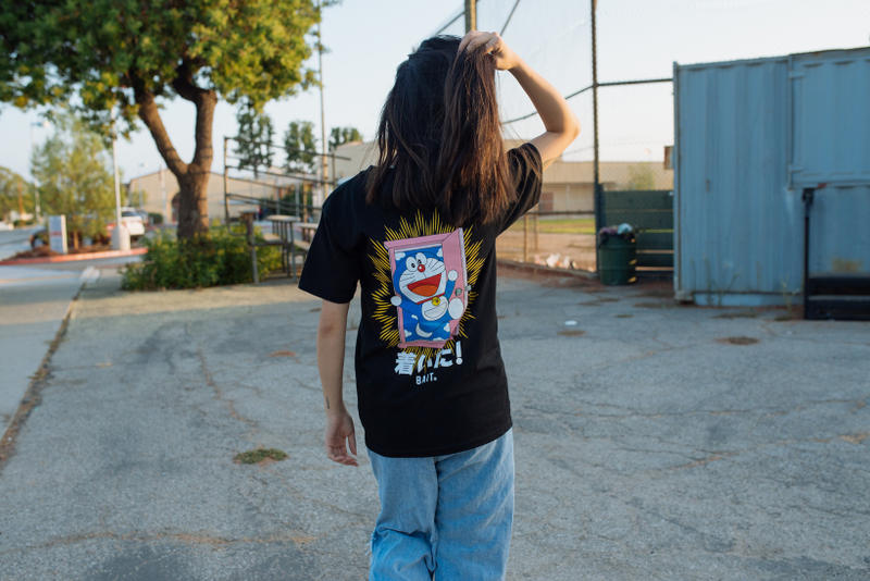BAIT Doraemon capsule collection t shirts hoodies new september fall summer 2018 black blue white graphic
