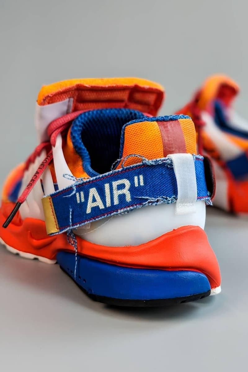『ドラゴンボールZ』x Off-White™️ x Nike による架空のトリプルネームモデルが出現 オフホワイト ナイキ 悟空 エア プレスト