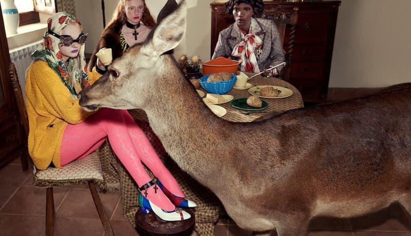 """Gucci の持つ世界観を色濃く反映した2019年春夏キャンペーンビジュアル&クリップが到着 """"生命の死""""を美しく優雅に表現すべくゾウ、ラクダ、虎といった大型動物も登場 Alyscamps アリスカン Gucci グッチ 2019年春夏コレクション キャンペーンビジュアル クリップ Glen Luchford グレン・ルッチフォード Alessandro Michele アレッサンドロ・ミケーレ HYPEBAEAST ハイプビースト"""