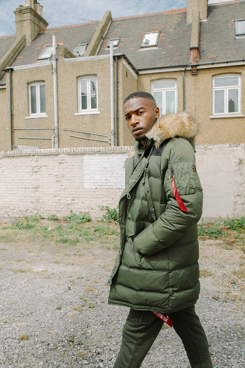 Alpha Industries Fall Winter 2018 Lookbook collection london parkas bombers outerwear tracksuit HYPEBEAST Military