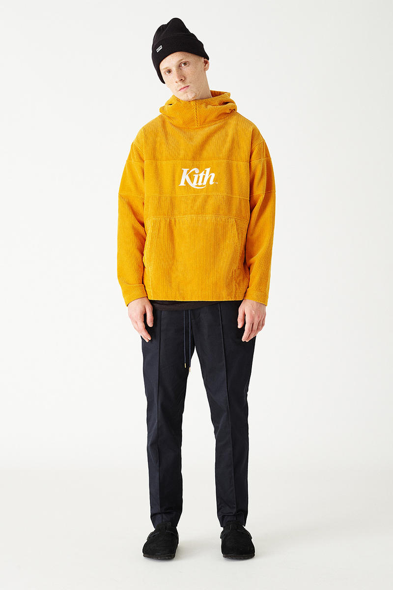 kith fall 2018 lookbook campaign september fashion ronnie fieg makavelic kangol rugby shirt sweat hoodie parka coat pants streetwear HYPEBEAST