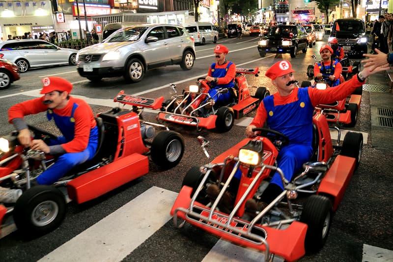 Nintendo Mario Kart Super Mario Shibuya Akihabara Japan Law Suit Car Drive HYPEBEAST