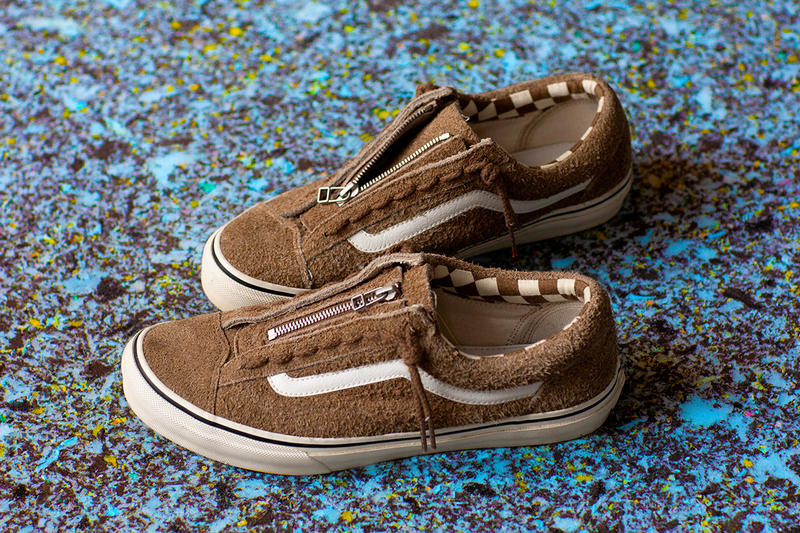 nonnative vans old skool low style 36 zipper tan beige suede black checkerboard pattern september 22 2018 drop release date info buy 17000 yen tokyo release date info details collaboration HYPEBEAST
