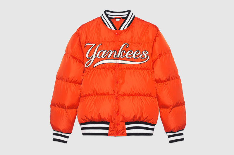 NY Yankees x Gucci Apparel Backpacks Jacket Bomber HYPEBEAST