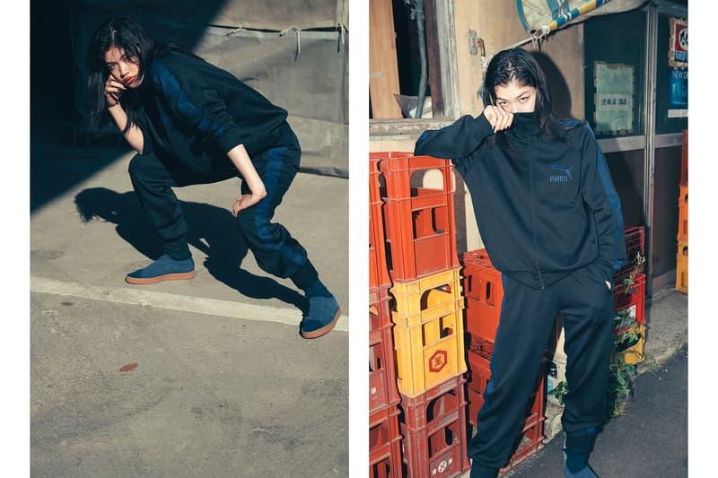 puma poggy motofumi kogi the man collaboration suede sneaker 50 anniversary tracksuit jacket pants tee shirt drop release date info collection september 15 2018 japan