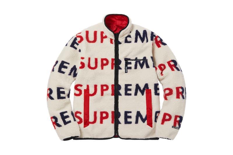 Supreme Supreme x Nike Nike reversible logo fleece Jacket Crewneck Plaid Shirt Pants shorts black yellow blue red outer HYPEBEAST