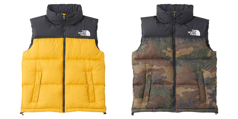 67ba61d45e The North Face Retro 1996 Nuptse Vest release info orange yellow red blue  grey black camo