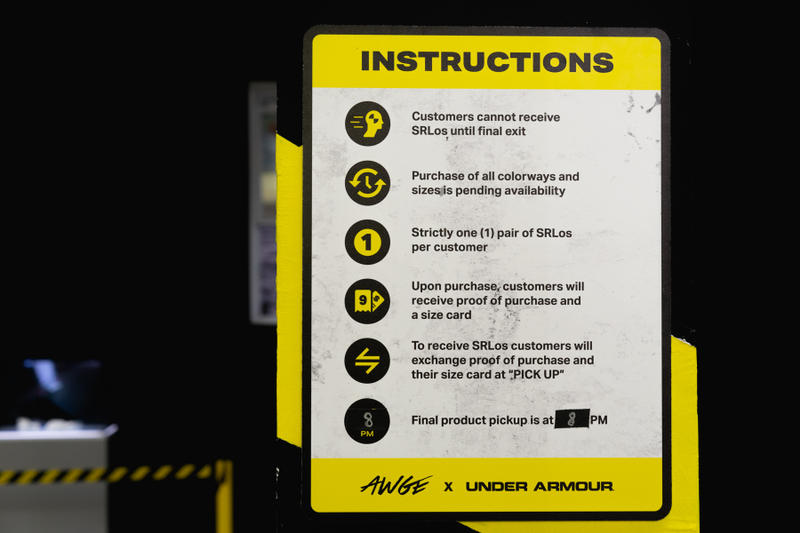 AWGE x Under Armour によるコラボフットウェアのポップアップに潜入 アンダーアーマー エイサップ・ロッキー