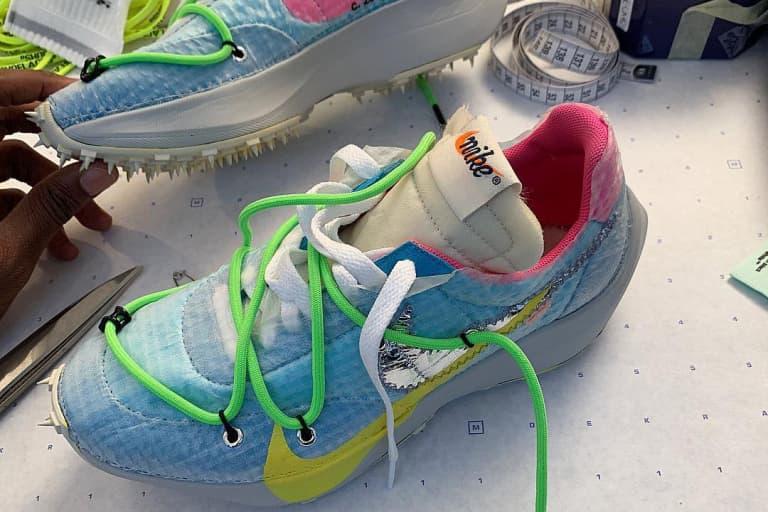 Off-White™️ x Nike による奇抜な最新ウィメンズスニーカーがショーに先駆けお披露目 オフホワイト ナイキ ヴェイパーストリート ヴァージル ベラ・ハディッド