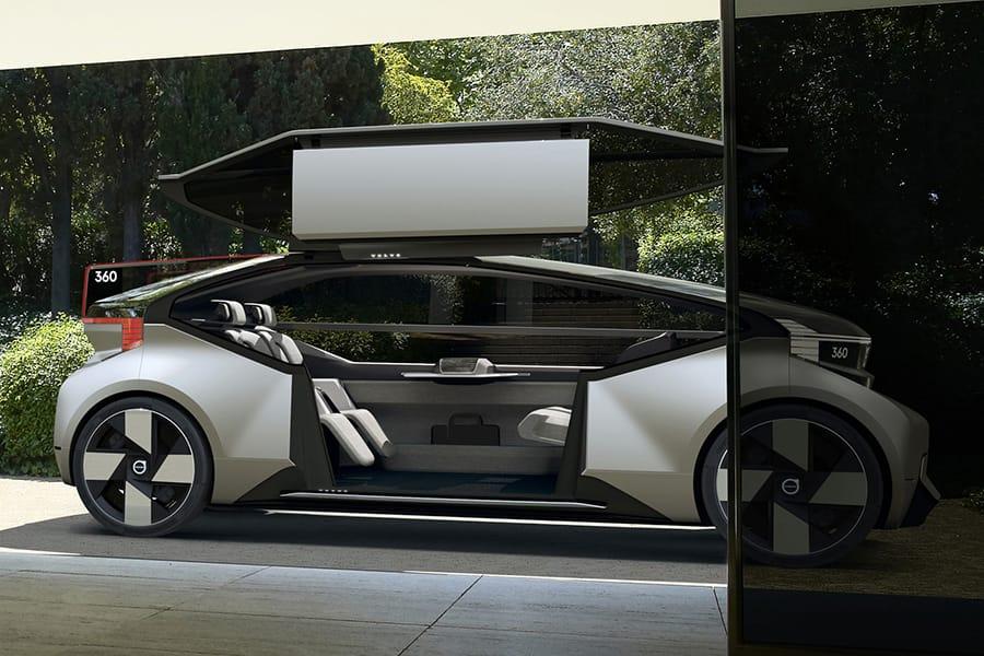 """Volvo が""""車移動""""の常識を覆す完全自動運転のコンセプトカーを発表"""