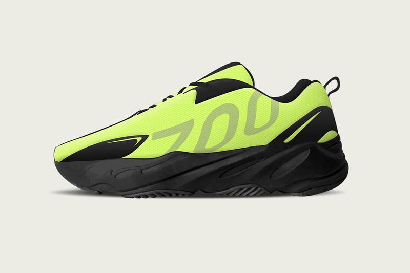 YEEZY BOOST 700 VX 6ix9ine Gift Sample Revealed Neon Green Volt Wave Runner HYPEBEAST Kanye West adidas