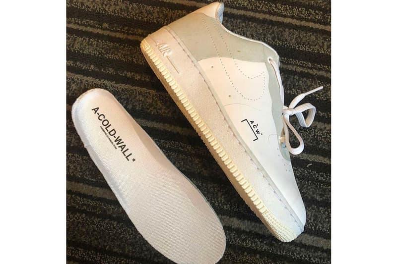 sports shoes 5e24f 1e055 A-COLD-WALL x Nike による更なるコラボ Air Force 1 の