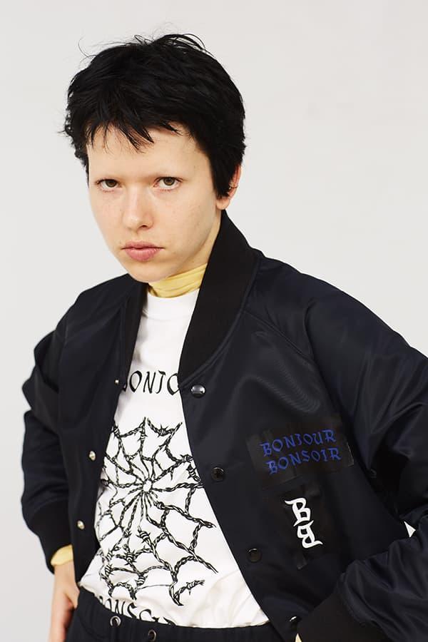 bonjour records ボンジュール レコード bonjour bonsoir ボンジュール ボンソワール グラフィック ゴス Tシャツ ジャケット ZOZOTOWN HYPEBEAST ハイプビースト