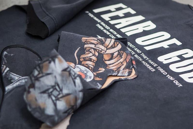 Fear of God よりヴィンテージTシャツを再構築した斬新なフットウェアが登場 フィア オブ ゴッド ジェリー・ロレンゾ jerry lorenzo
