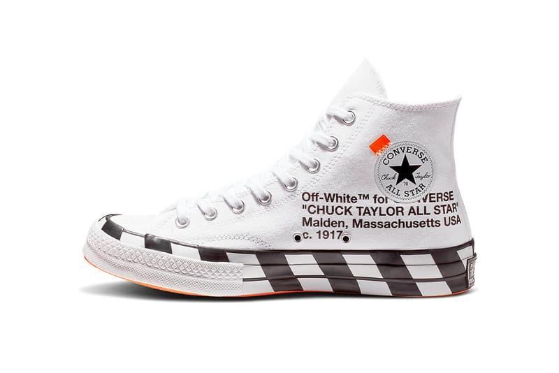 off white converse chuck 70 virgil abloh 2018 october footwear 8 taylor all star オフホワイト コンバース HYPEBEAST ハイプビースト