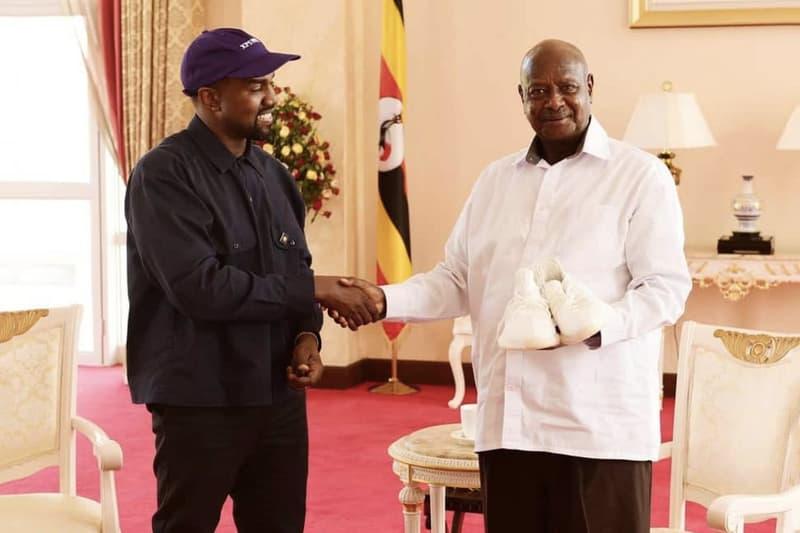 カニエ・ウェスト ウガンダ YEEZY BOOST 350 V2 プレゼント Kanye West ヨウェリ・ムセベニ 大統領  HYPEBEAST ハイプビースト