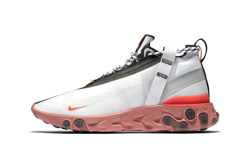Nike React Runner Mid WR ISPA First Official Look 87 55 Release Details Closer White Orange Black Blue Red Information sneakers trainer footwear