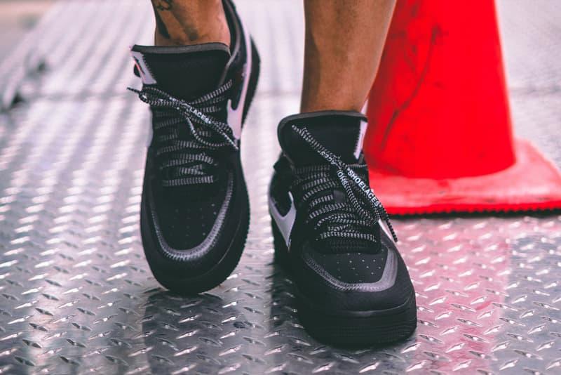 Off-White™️ x Nike によるオールブラック Air Force 1 の最新着用ビジュアルが公開 エアフォース1 ナイキ オフホワイト HYPEBEAST ハイプビースト