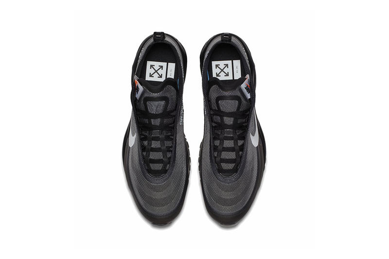 オフホワイト ナイキ エアマックス 97 スニーカー off white nike air max 97 virgil abloh 2018 nike sportswear footwear black white cone black HYPEBEAST