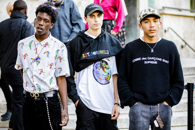 Paris Fashion Week Spring/Summer 2019 Street Style SS19 prada off white nike virgil abloh burberry undercover comme des garcons raf simons Kozue Akimoto HYPEBEAST