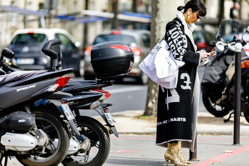 Paris Fashion Week Spring/Summer 2019 Street Style SS19 prada off white nike virgil abloh burberry undercover comme des garcons raf simons