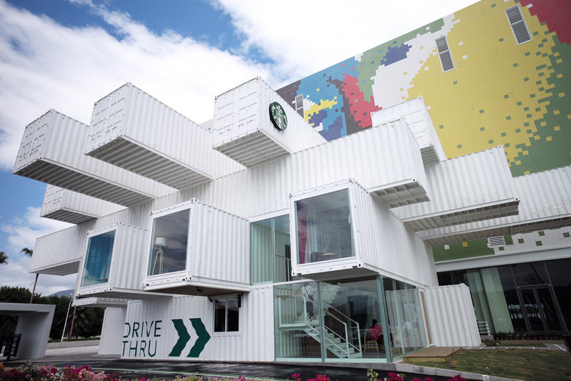 Starbucks Taiwan container Kengo Kuma Architecture Design Coffee Shop HYPEBEAST