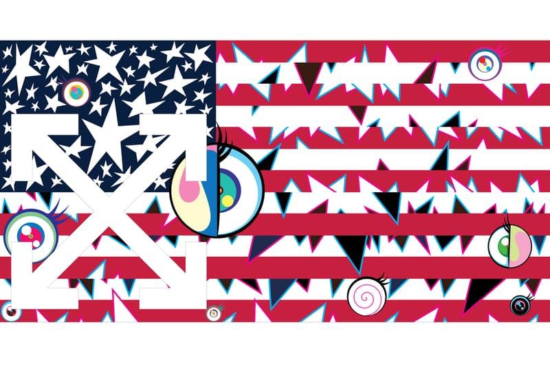 """ヴァージル・アブローと村上隆が過去最大規模となるコラボエキシビション """"AMERICA TOO"""" を開催 virgil abloh takashi murakami off-white オフホワイト ハイプビースト HYPEBEAST"""