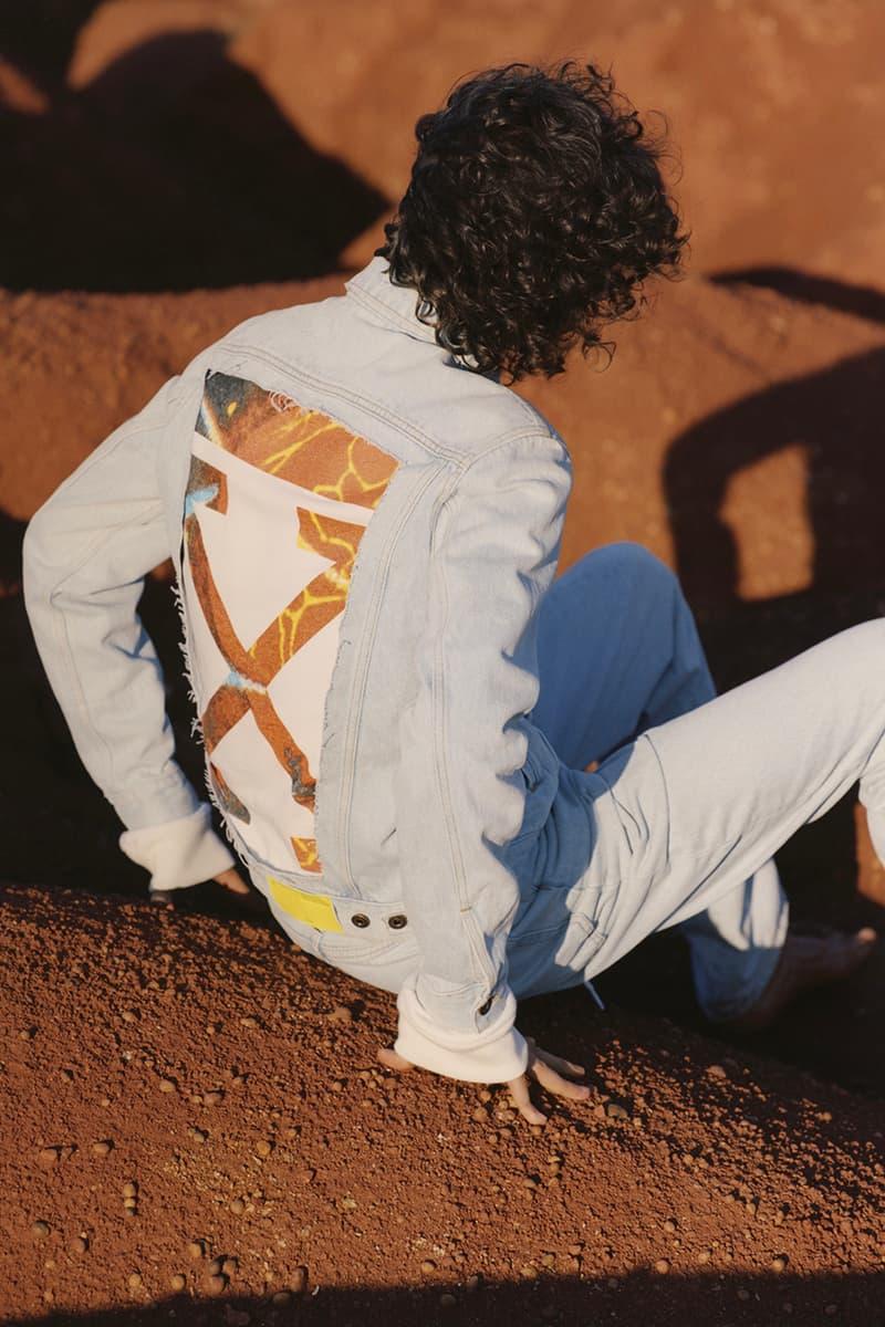 オフホワイト ヴァージルアブロー リゾートコレクション デニム キャンペーン ルックブック off white denim resort spring summer 2019 collection lookbook editorial campaign imagery photograph jeans jacket pants anorak parka