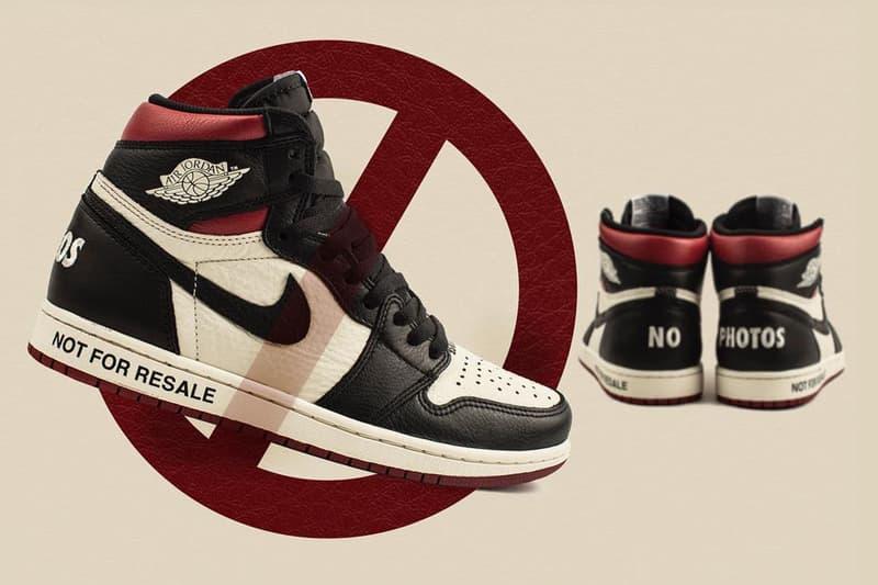 """某スニーカーショップが Air Jordan 1 AJ1 エアジョーダン1 """"Not For Resale"""" のユニークな転売防止方法を伝授?"""
