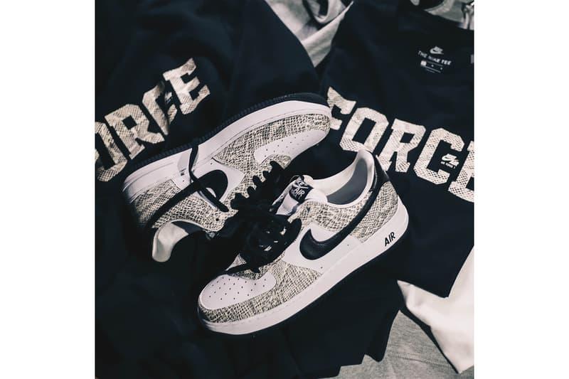 atmos アトモス Nike ナイキ エアフォース Air Force 1 Cocoa Snake ホワイトスネーク 白蛇