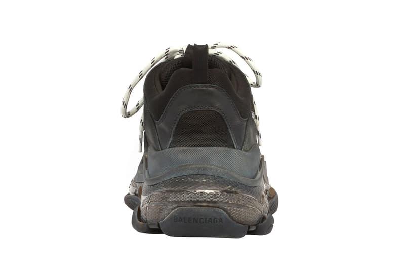 バレンシアガ トリプルエス Balenciaga Triple S スニーカー 黒 白 ブラック ホワイト クリア チャンキースニーカー ダッドシューズ Balenciaga Triple S Clear Sole Sneakers