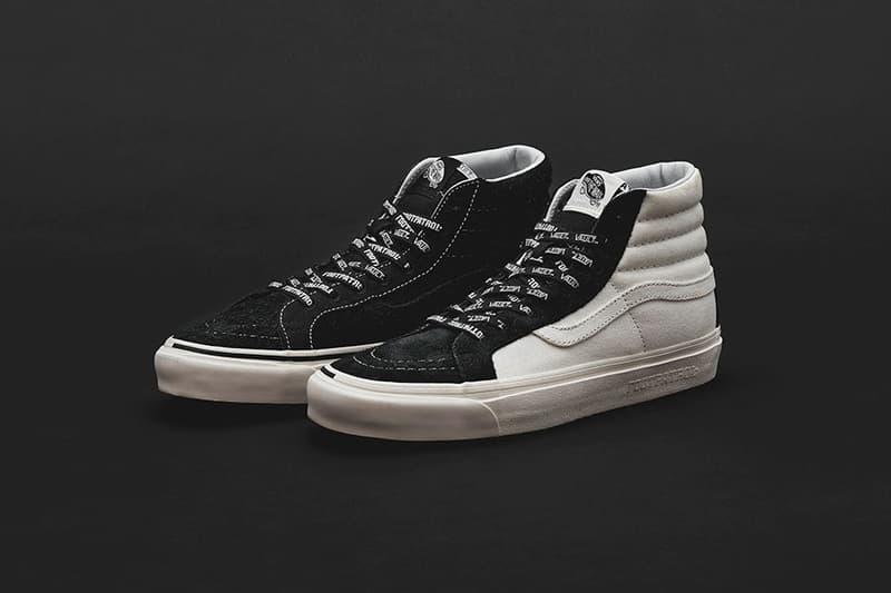 フットパトロール ヴァンズ ボルト vans ブラック スニーカー ストリート イギリス ロンドン  Footpatrol x Vans Vault Collection Release Date Classic Slip-On LX, Sk8-Hi  Old Skool LXprice info collaboration sneaker colorway black