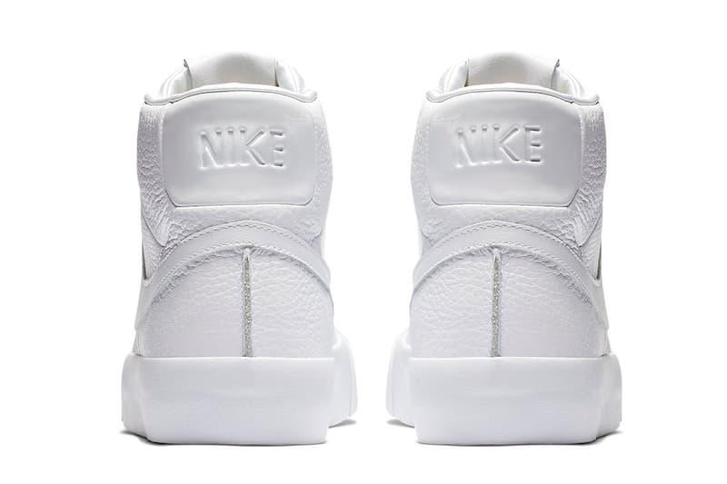 """ナイキ ブレザー オールホワイト レザー Nike Blazer Royal """"Triple White"""" Release Date price november 2018"""