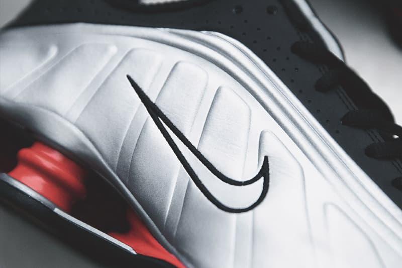 """Nike ナイキ ショックス  Shox R4 """"Black/Silver"""" モデル クローズアップ  スニーカー シューズ"""