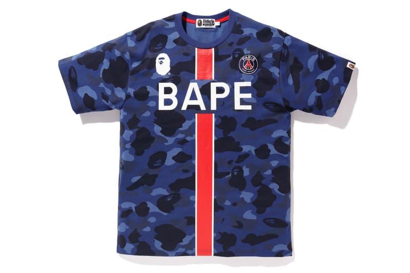 ベイプ パリ・サンジェルマン BAPE PSG オンライン 発売日 フーディ Tシャツ ネックウォーマー ダウン A BATHING APE