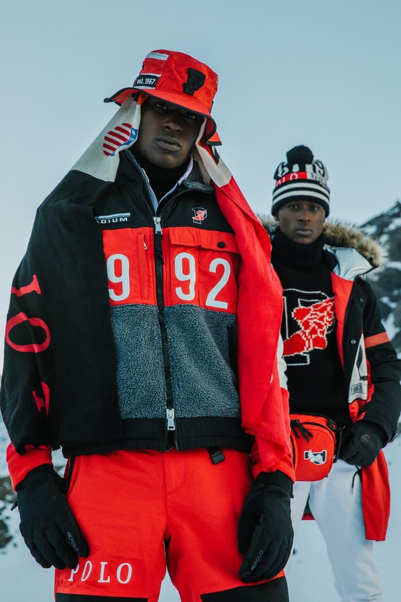 ポロ ラルフローレン ウィンタースタジアム コレクション Polo Ralph Lauren Winter Stadium ジャケット アウター 秋冬 キャップ レッド 赤 ブラック 黒