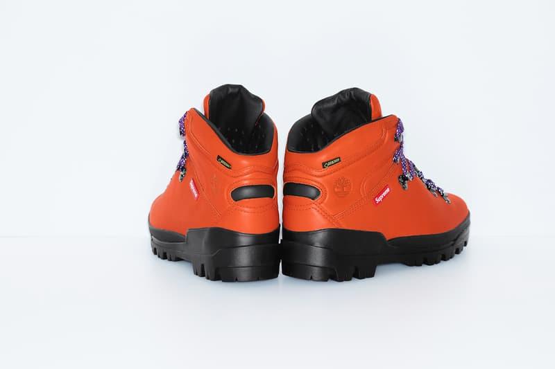シュプリーム x ティンバーランド Supreme x Timberland より最新コラボフットウェア World Hiker Front Country Boot が登場