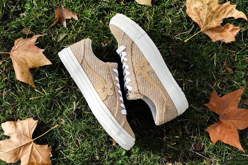 "タイラー・ザ・クリエイター ゴルフ ラ フルール  ワンスター コンバース GOLF le FLEUR* x Converse ""Burlap"" One Star Closer First Look Tyler, The Creator Shoes Trainers Sneakers Kicks Footwear Cop Purchase Buy Release Date Details November 15 2018 HYPEBEAST ハイプビースト"
