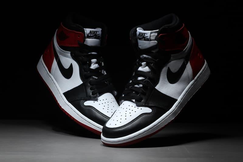 フラグメント デザイン エアジョーダン1 発売日 発売時期 つま黒 ブラックトゥ レッド ホワイト ブラック fragment design Air Jordan 1 Black Toe スニーカー