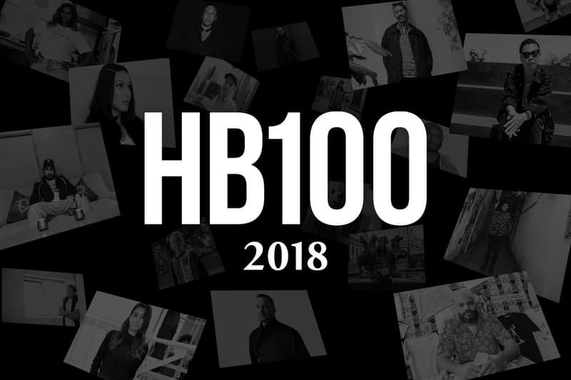 HYPEBEAST 100 ハイプビースト 100人 2018 クリエイター100組 HB 100