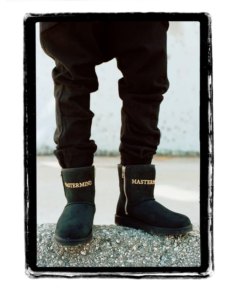 マスターマインド アグ ムートンブーツ ブーツ クラシックブーツ ベージュ ブラック 黒 MASTERMIND WORLD UGG コラボ オンライン 発売日 価格