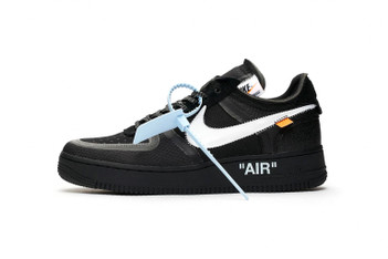 "Picture of UPDATE:Off-White™ x Nike Air Force 1 ""Black"" のクリーンなビジュアルが解禁"