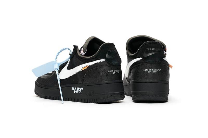 """オフホワイト エアフォース1 ナイキ 発売日 オンライン SNKRS 価格 Off-White x Nike Air Force 1 """"Black"""" AF1"""