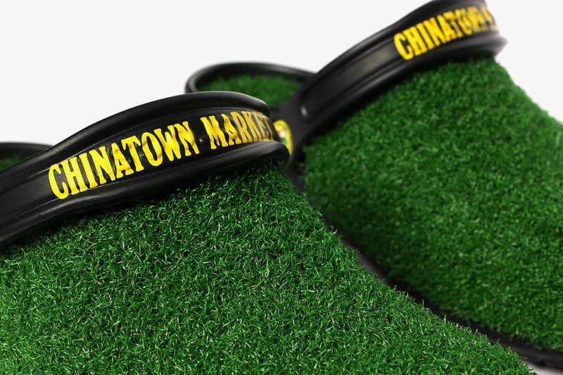 チャイナタウン マーケット クロックス Chinatown Market Crocs Turf Lined Clog Release grass shoe collaboration footwear drop info january 24 2019 buy