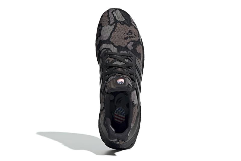 ベイプ アディダス ブースト スニーカー BAPE x adidas UltraBOOST Official Look a bathing ape sneaker football nfl super bowl LIII green black camo 1st camo